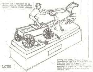 drawing of sculpture
