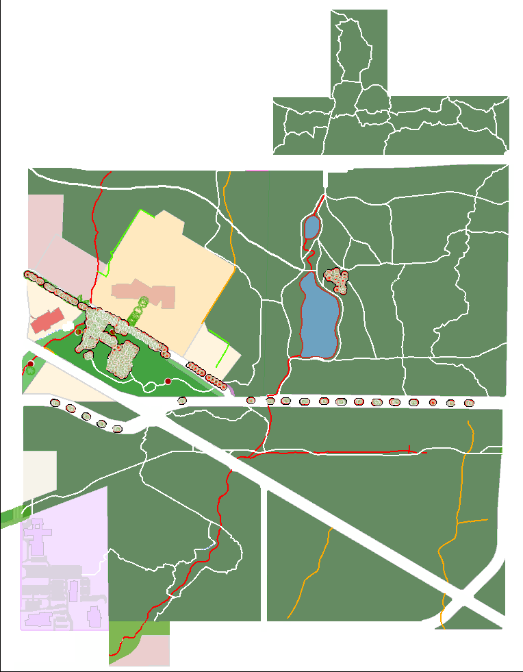 Map of trails in Green Timbers